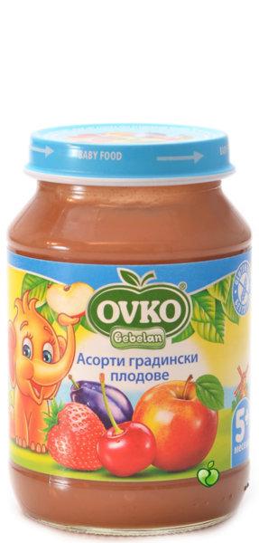 Овко Бебешко пюре Асорти /Градински плод/ 5м 190 гр. 3860